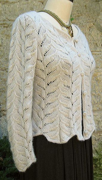 Sweater knitting pattern. Possibly with a ribbed edge to make it neater?