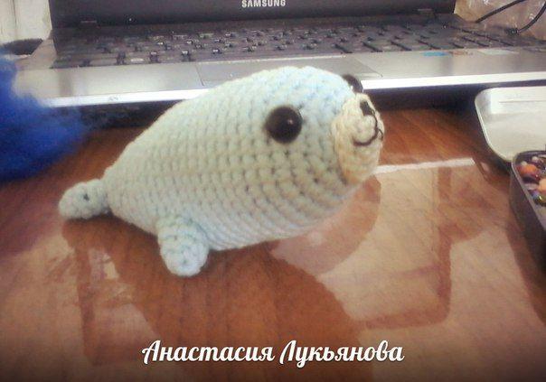 Красавчик морской котик #амигуруми, #развивающая_игрушка, #малышам, #амигуруми, #маленькая_игрушка, #брелок_для_ключей