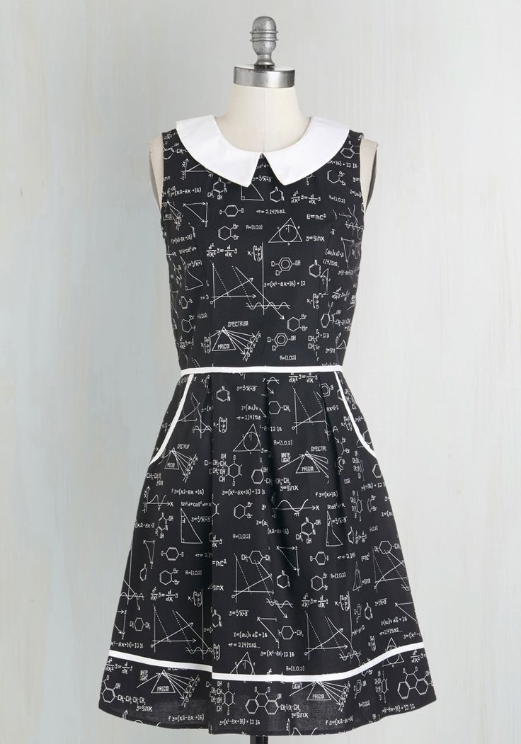 Yes, it's kind of expensive...but it's so perfect for teachers! All Eyes on Unique Dress in Science, @ModCloth