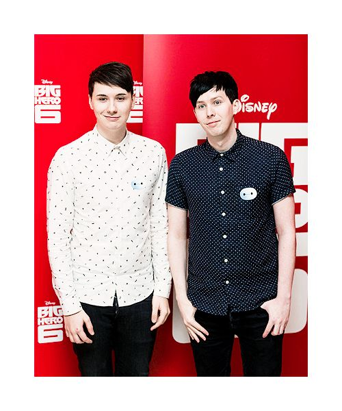 Dan and Phil at the Big Hero Six Premiere in London