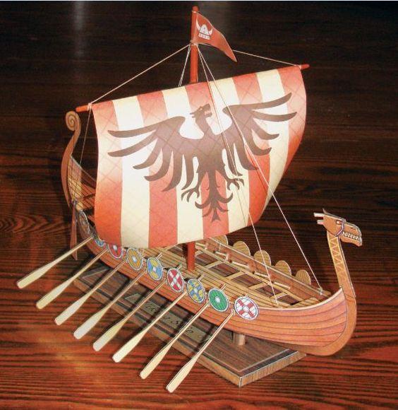 beta build for the Viking Ship paper model:
