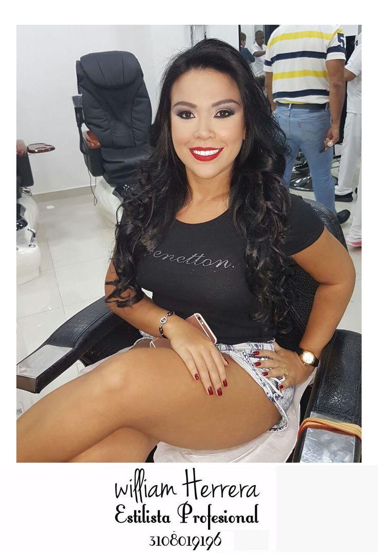 Y finalizo con este maquillaje nuevamente de labios rojo pasión 😁 con unos ojos delineados con negro y #smokeeyes y unas lindas #ondas <3 Asesórate conmigo y lleva tu look ideal 3108019196 ¡William Herrera, Estilista Profesional! #MakeUp #Maquillaje #Belleza #MAC #CaliCo #Cali #Colombia #CaliEsCali #Hermosas #Recogidos #Pro #Estilista #Profesional #Natural #Mujeres #Look #Style