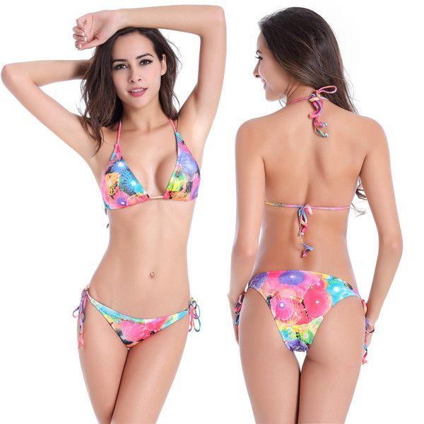 Femmes Maillot De Bain Sexy Bikini Contraste Mme Sexy Bra Haut Halter Jupe Siamois Maillots De Bain pour Vacances Natation,Red-L