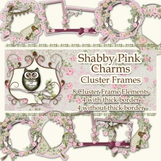 For INSTANT DOWNLOAD please visit my Etsy Store  A set of elegant vintage style cluster frames designed to coordinate with the Shabby Pink…