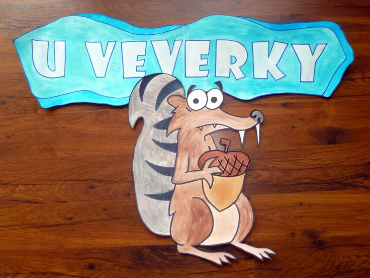 Třída U veverky - Scrat na dveře třídy