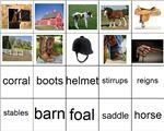 Therapeutic Horseback Riding- file folder – Make a file folder task to pair with therapeutic horseback riding lessons.