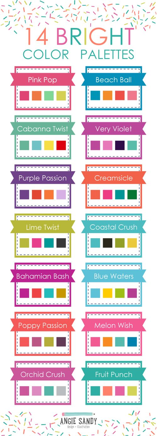 14 Bright Color Palettes