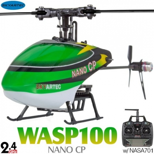SKYARTEC Wasp 100 Nano CP 6-ch 3D RC Helicopter With Aluminum Case RTF SET