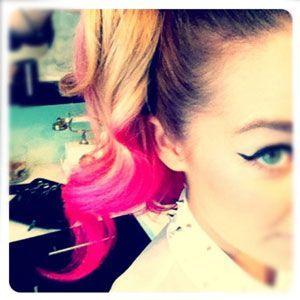 Lauren Conrad with pink hair!