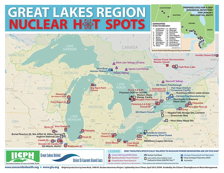 Best Pollution Nuclear Energy Images On Pinterest Nuclear - The great lakes on us and canada map
