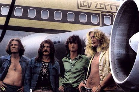 "Led Zeppelin used to park themselves in big city hotels (New York, LA, Chicago, Dallas) and then fly in and out of the smaller cities and back that same night, ferried to and fro between hotels, airports and concert halls via a squadron of limousines.  ""The Starship,"" as the former United Airlines Boeing 720 passenger jet was re-dubbed by its owners (Ward Sylvester and pop singer Bobby Sherman) had been modified at the cost of nearly a quarter of a million dollars, with the intention of ..."