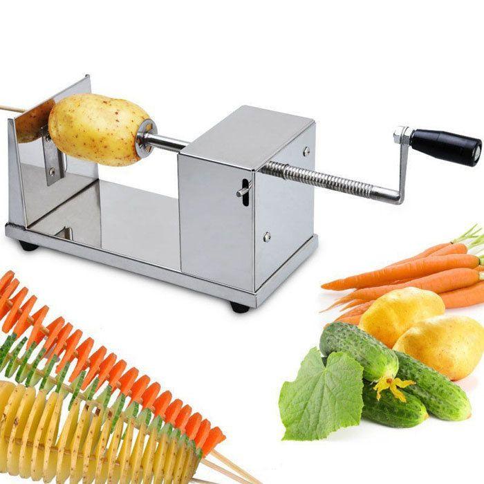 Stainless Steel Potato Chip Making Machine Home Made Potato Spiral Cutter Slicer at Banggood