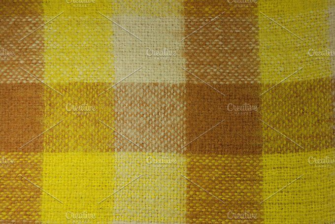 close-up shot of plaid Photos High resolution multicolor cotton fabric by sergeypeterman