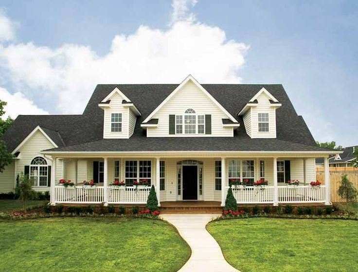 25 best ideas about country house plans on pinterest for One story country house plans with porches