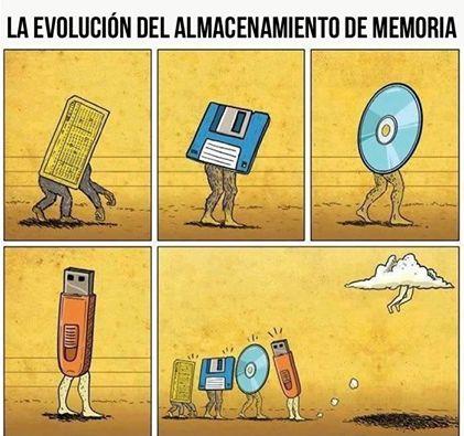 Evolución del almacenamiento de memoria, con sus ventajas y desventajas...