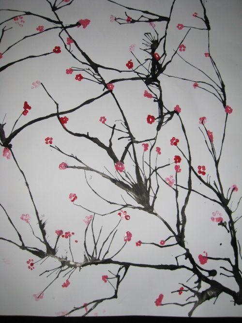 encre soufflee giet cerisier japonais.