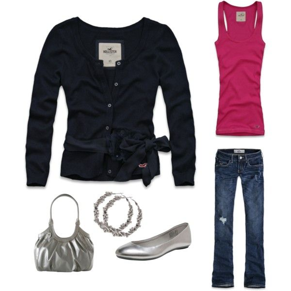"""""""Saturday comfort"""" by shamie2432 on Polyvore: Outfits Myoutfit, Black Cardigans, Blue Sweaters, Black Outfits, Clothing, Cute Cardigans, Bows, Casual Weekend Outfits, Saturday Comforter"""