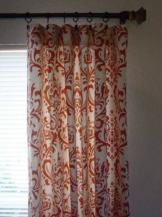 20 Best Images About Front Room On Pinterest Damask Curtains Copper And Orange Living Rooms