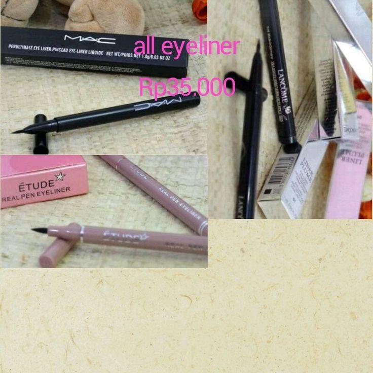 Eyeliner rp35000/pcs Pemesanan sms / wa ke 085693874040. #jual #eyeliner #liquideyeliner #etude #lancome #mac #murah #makeup #mua