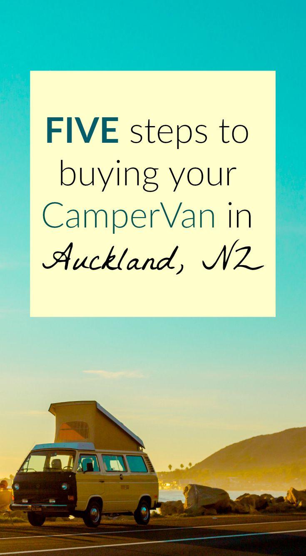 FIVE steps to buying your camper van in Auckland, New Zealand. A comprehensive guide. saltyjoy.com #travel #campervan #vanlife #newzealand #traveltips #Campers #Van