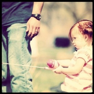 I use to have a pink fishing pole!  I love fishin' with my daddy!