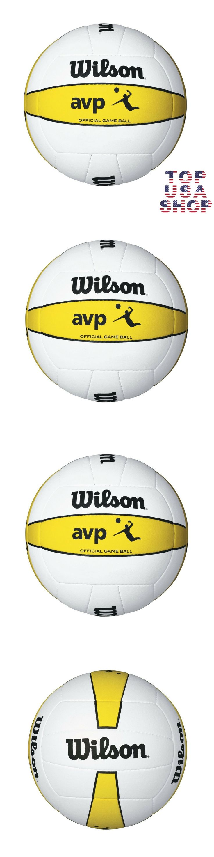 Volleyballs 159132: Volleyball Beach Ball Wilson Game Official Avp Outdoor Leather Microfiber Sports -> BUY IT NOW ONLY: $55.99 on eBay!