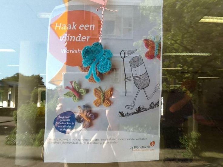 Hint van 6 juni: Waar hangt deze leuke poster (hint: er wordt stevig verbouwd) en waar zoekt vlinder 4 z'n maatjes op? Als je 'm vindt, bewaar je vlindertje goed en neem het mee naar het heropeneningsfeest  van Bibliotheek Bloemendaal om 10:00 uur op 21 juni. Je krijgt dan een klein cadeautje!