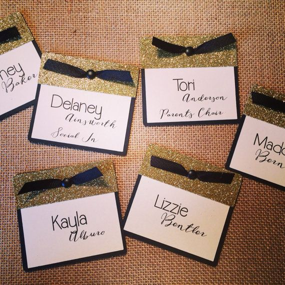 Cute name tags Heavy cardstock and by SprigOfSageCreations on Etsy
