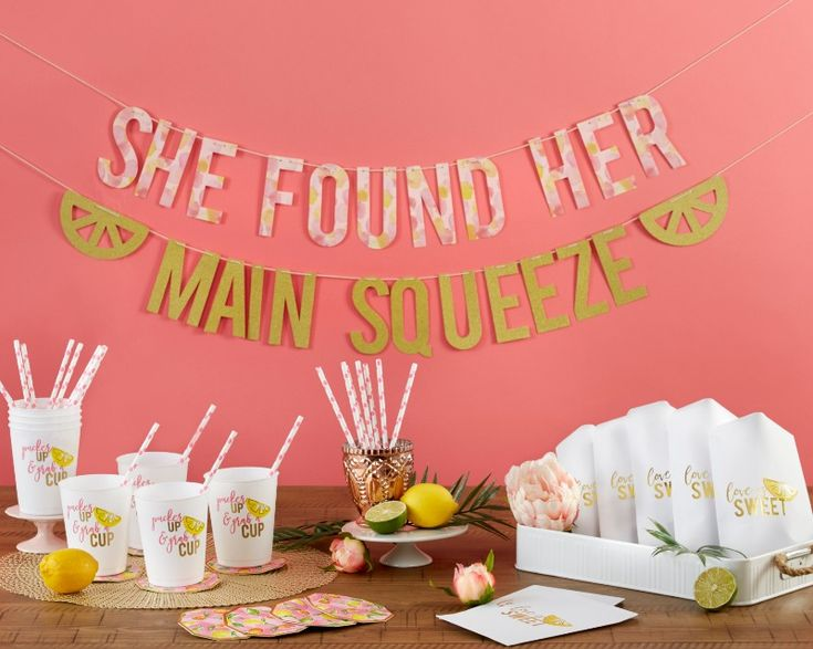 Kate Aspen's She Found Her Main Squeeze 49 Piece Party Kit is the bridal shower kit or bachelorette party kit you've been looking for!