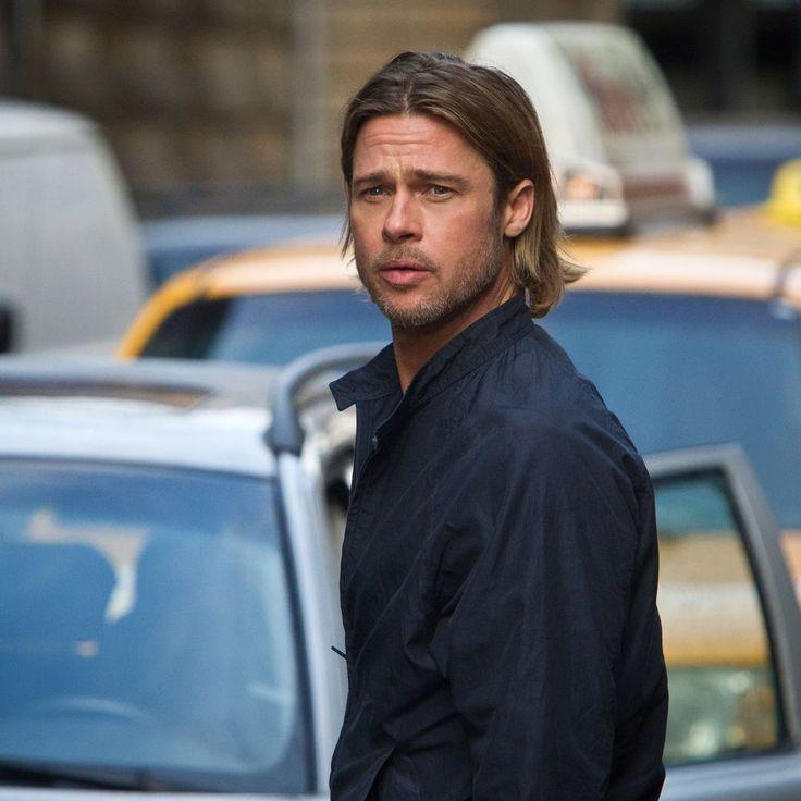 Brad Pitt World War Z Celebrity Moms Brad Pitt Brad Pitt Long Hair Brad Pitt Shirtless