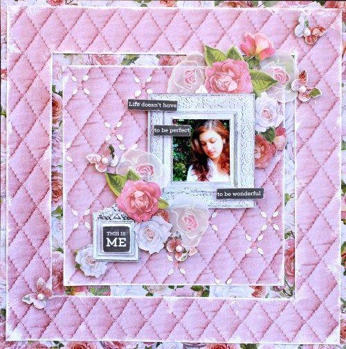 Kaisercraft Cottage Rose. Cathy Cafun