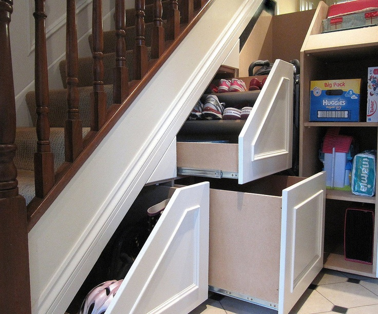 Use the space under your stairs that is currently wasted space, great place for shoes, games, cleaning supplies or even as a general storage space.