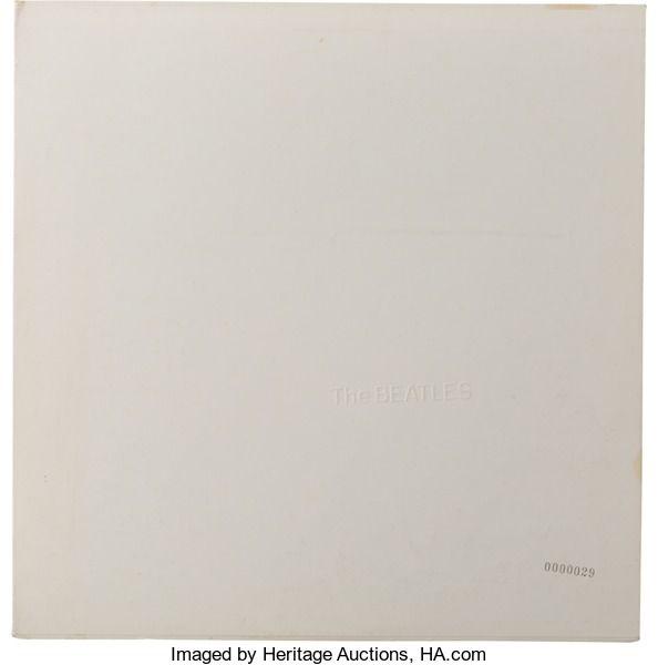 "Music Memorabilia:Recordings, The Beatles (""The White Album"") Numbered US Pressing#0000029 (Apple SWBO 101, 1968). ..."