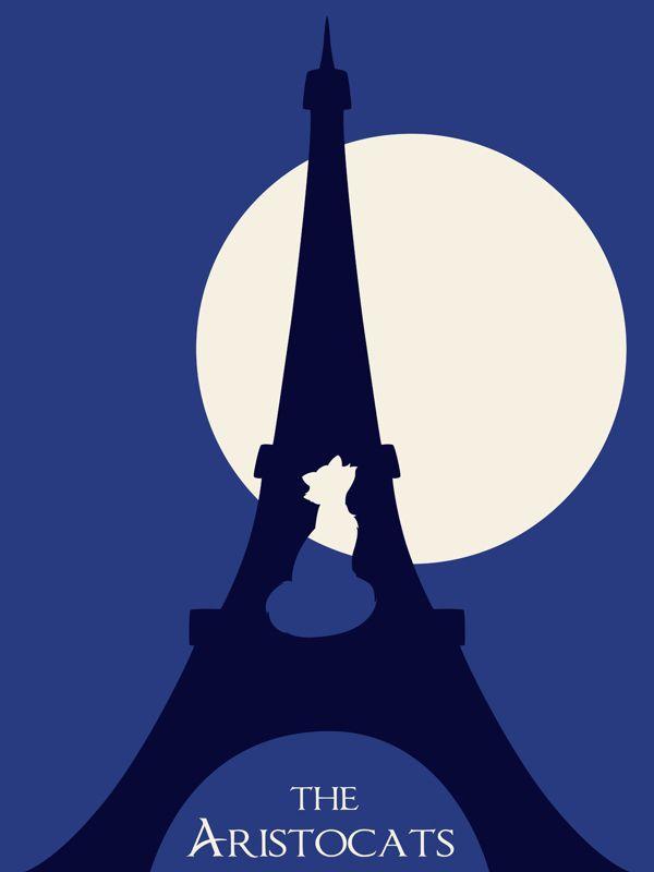 The Aristocats - Disney Minimalist Poster | by Citron Vert, via Behance
