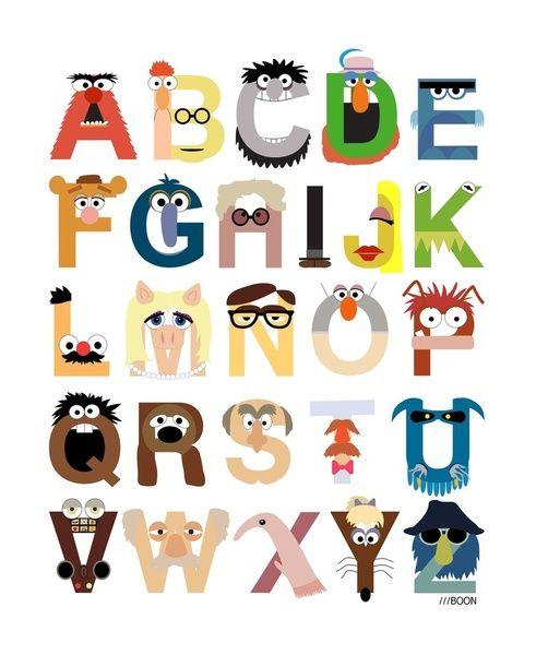 Muppet Alphabet: Muppetalphabet, Idea, Abc, Kids Room, Mike Boon, Muppet Alphabet, The Muppets, Muppets Alphabet