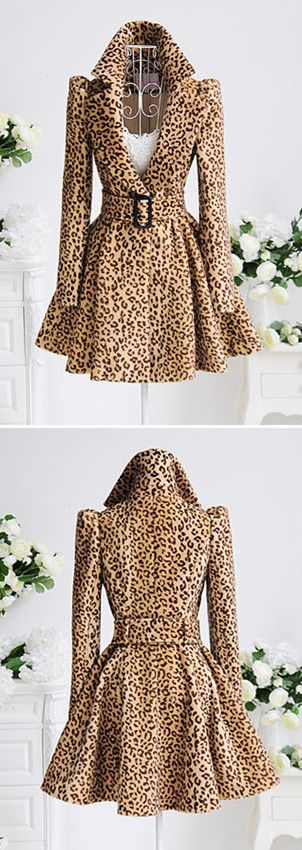 Leopard print coat...someday, I will own one. Hopefully it will be one as cool as this one.