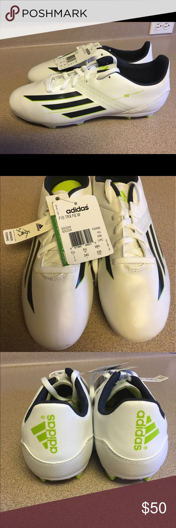 NEW NET WOMENS ADIDAS F10 TRX FG W SOCCER Size 7M NEW NET WOMENS ADIDAS F10 TRX FG W SOCCER SHOES Size 7 M Adidas Shoes Athletic Shoes