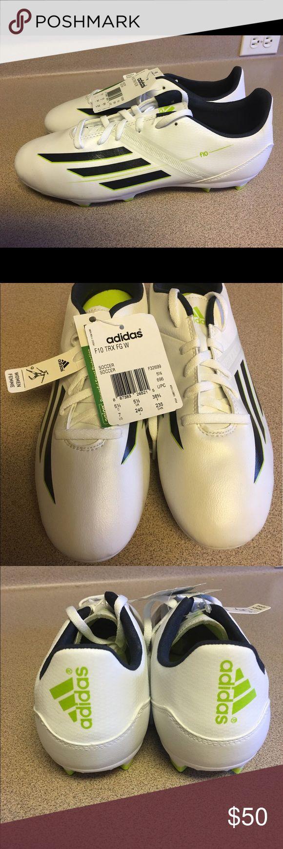 NEW NET WOMENS ADIDAS F10 TRX FG W SOCCER Size 7M NEW NET WOMENS ADIDAS F10 TRX FG W SOCCER SHOES Size 7 M Adidas Shoes Athletic Shoes
