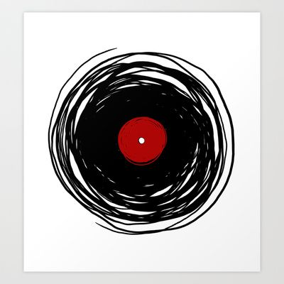 Spinning within with a vinyl record... Art Print by Denis Marsili DDTK