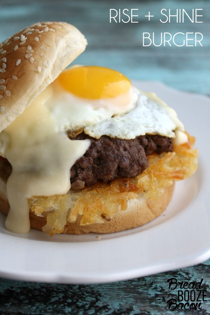 Have breakfast for dinner with a Rise + Shine Burger that'll make you forget all about pickles and ketchup!  #12bloggers