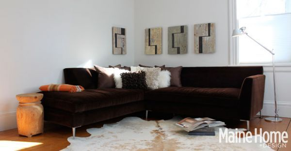 Interesting Curved Leather Couch, Youngs Furniture | Post Remodel House |  Pinterest