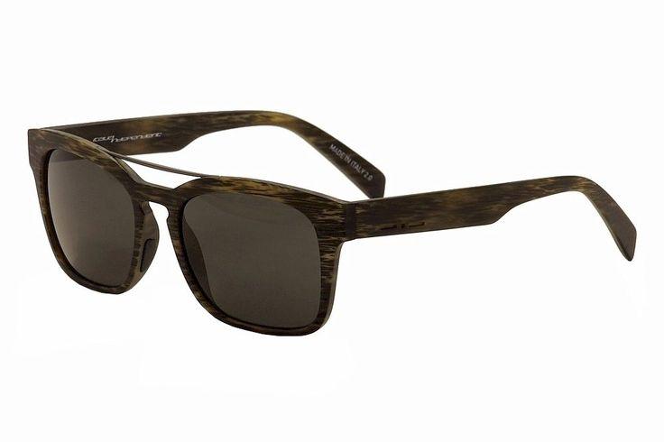 Italia Independent I-Plastik 0914 BHS Grey Fashion Pilot Sunglasses 52mm. Italia Independent I0914 BHS 071 Sunglasses.