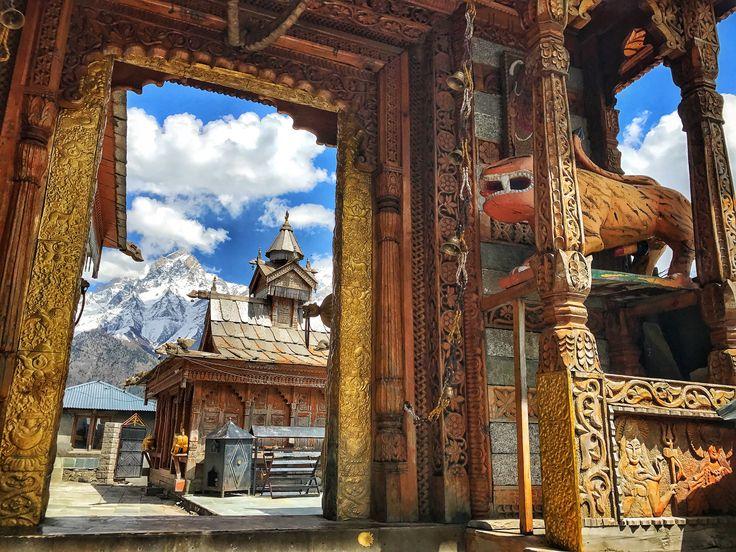 Kalpa hamlet and the kinner kailash mount as background