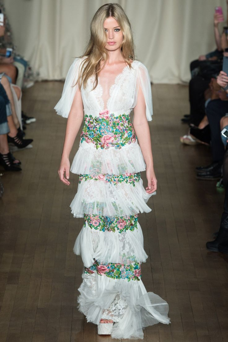 Marchesa womenswear, spring/summer 2015, London Fashion Week