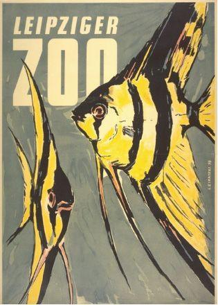 Leipziger ZOO and quarium, Vintage Poster