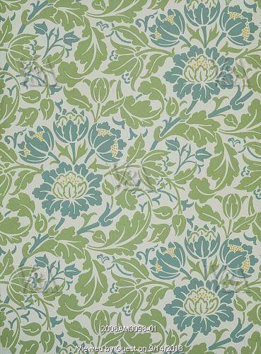 Flowering Scroll Wallpaper By William Morris England