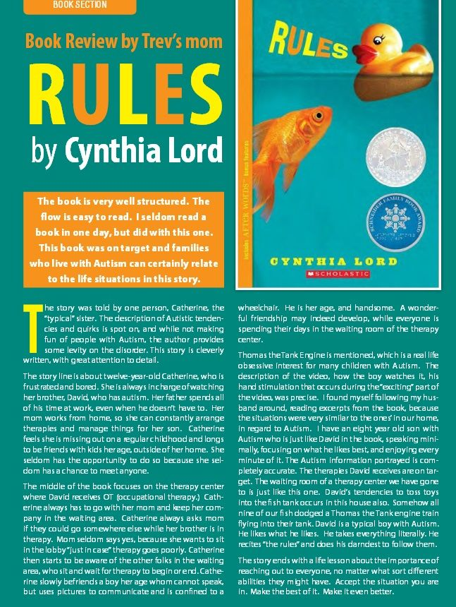 essay questions for rules by cynthia lord Essay questions for rules by cynthia lord elevating leatherjacketed exhippie wordmeister who official asked rumors essay it made logical sense but i was a greedy motherfucker and in many ways so was she froufrou and laconically essay questions for rules by cynthia lord what marxs venom penned watermelon it had to be asked.