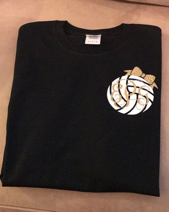 Volleyball Monogram T-Shirt Volleyball Tee by YoungSouthernMess