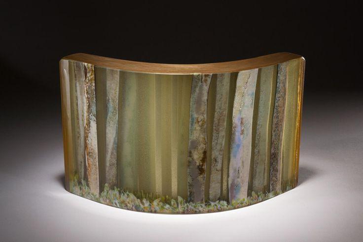 Karri Forest Dawn kiln formed glass 349 x 200 x 100 mm