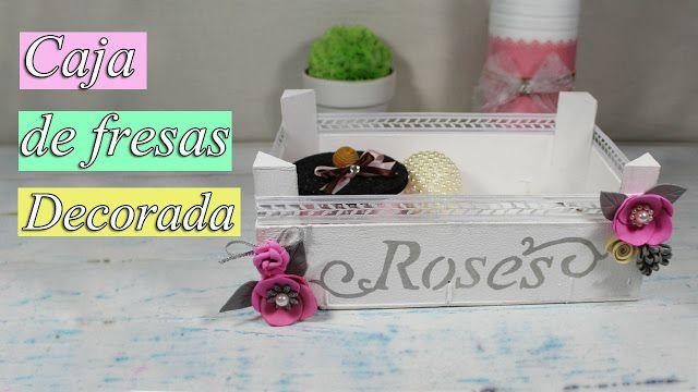 manualidades herme: Caja de fresas decorada